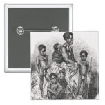 A Zulu family from The History of Mankind Pinback Button