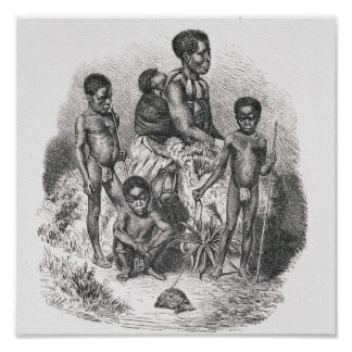 A Zulu family from The History of Mankind Poster