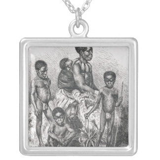 A Zulu family from The History of Mankind Silver Plated Necklace
