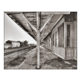 AA128P.L&N Train Station - Paris Ky. Poster