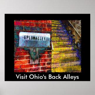 AA137P, los callejones traseros de Ohio de la visi Póster