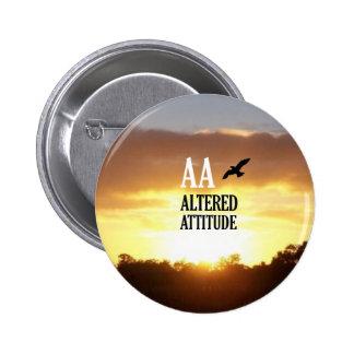 AA Altered Attitude Pinback Button