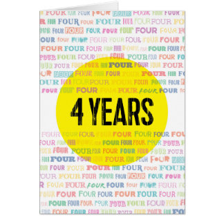AA Anniversary/Sobriety Date: 4 Years Greeting Card