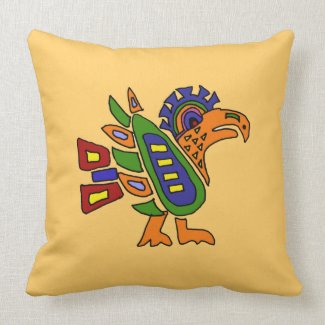 AA- Awesome Mexican Art Style Eagle Design throwpillow