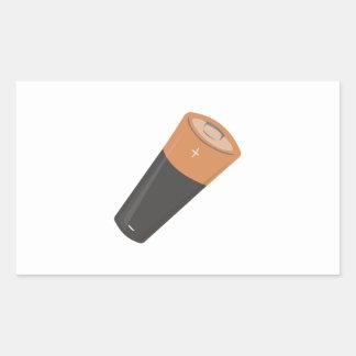 AA Battery Rectangle Sticker
