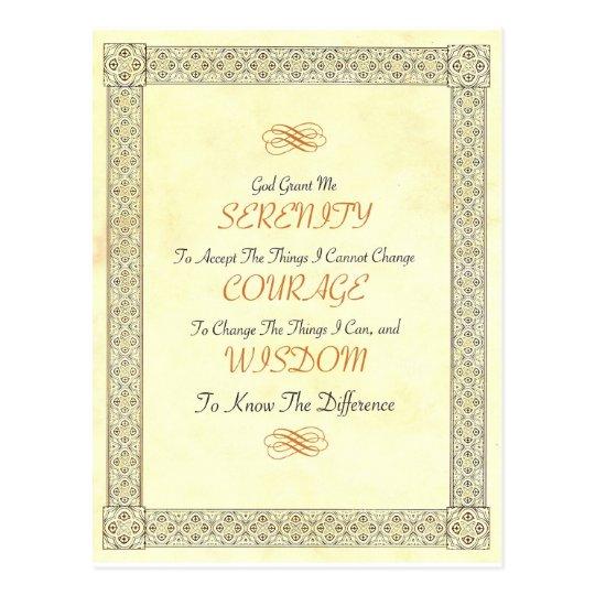 AA Bill W SERENITY Prayer Postcard
