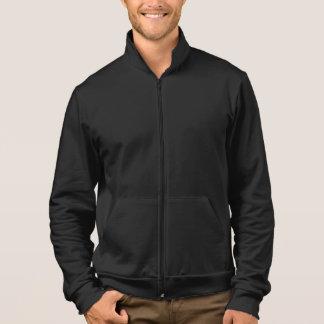 AA California Fleece Zip Jogger Black Printed Jackets
