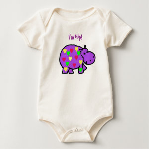 AA- Colorful Hippo Baby Outfit shirt