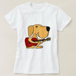 AA- Cute Yellow Labrador Retriever Playing Guitar Shirt