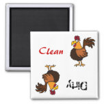 AA- Funky Rooster Dishwasher Magnet