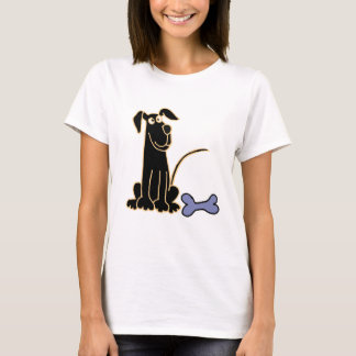 AA- Funny Black Puppy Dog Design T-Shirt