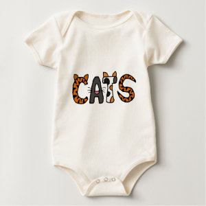 AA- Funny Cartoon Cats Baby Outfit shirt