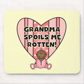 AA Girl Grandma Spoils Me Tshirts and Gifts Mouse Pad