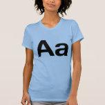 Aa Helvética Camisetas