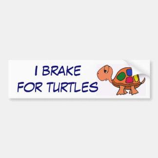 AA- I brake for turtles bumper sticker Car Bumper Sticker