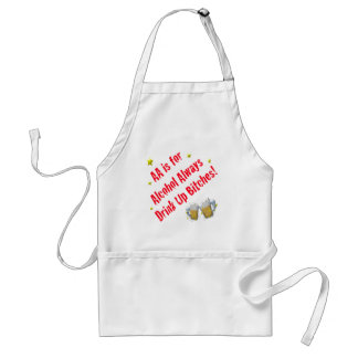 AA is For Alcohol Always Adult Apron