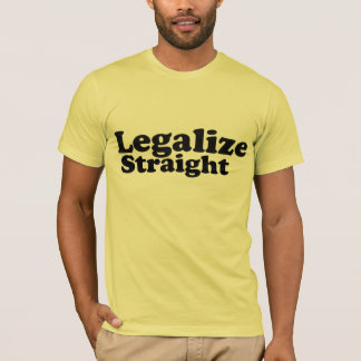 AA legalize straight blk n yellow T-Shirt