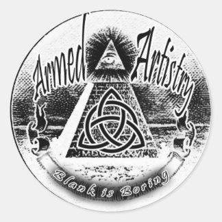 AA Logo Round Sticker