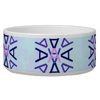 Aa Medallion Blue Dusk pet bowl