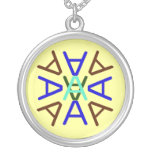 Aa Medallion Earth Necklace