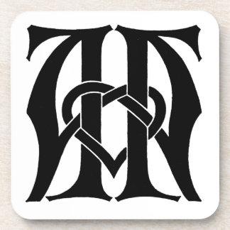 AA Monogram Coaster