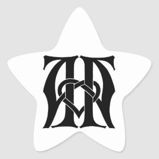AA Monogram Star Sticker