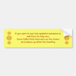 AA NA Gratitude bumper sticker