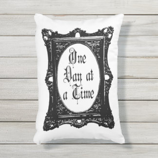 AA/NA One Day at a Time outdoor pillow