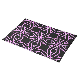 Aa Parade Cool Pinks on Black Cloth Placemat