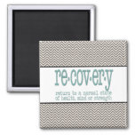 AA Recovery Definition Fridge Magnets