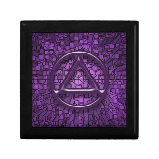 AA Recovery Sobriety Sober Tile Gift Box