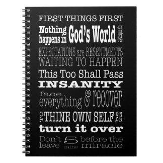 AA Sayings & Slogans 1 Notebook