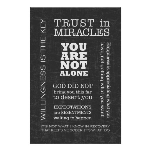 Aa Quotes: AA Sayings & Slogans 3 Poster