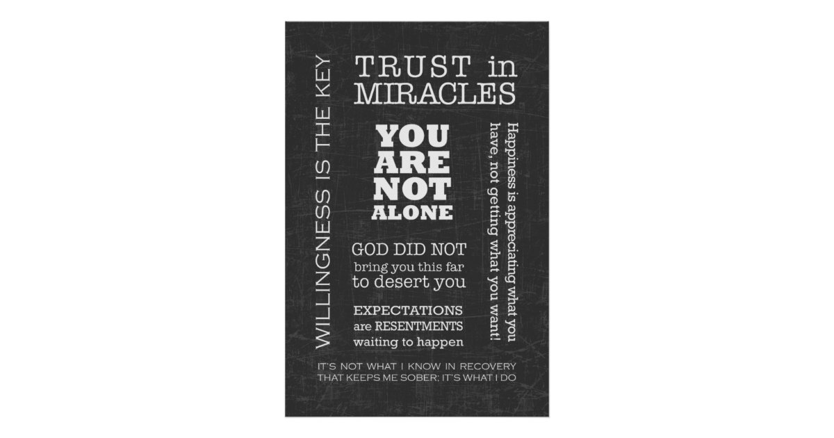 AA Sayings & Slogans 3 Poster | Zazzle