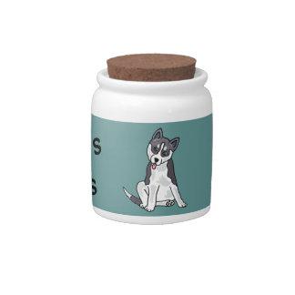 AA- Siberian Husky Pet Treats Jar Candy Jar