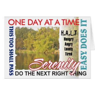 AA slogans anniversary card