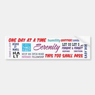 aa slogans bumper sticker