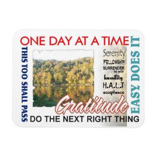 aa slogans featuring gratitude vinyl magnets