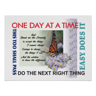 aa slogans poster12serenity prayer poster
