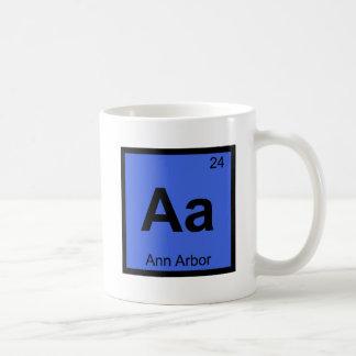 Aa - Tabla periódica de la química de Ann Arbor Taza De Café