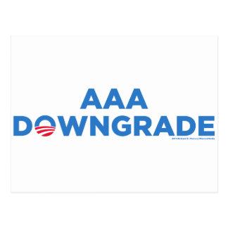 AAA Downgrade Postcard