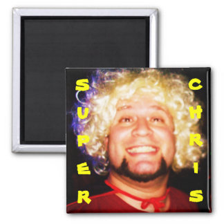 aaa its super chris, 2 inch square magnet