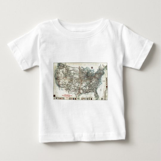 AAA Map of transcontinental routes (1918) Baby T-Shirt