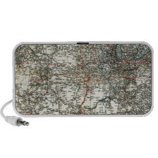 AAA Map of transcontinental routes 1918 Laptop Speakers