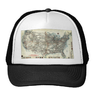 AAA Map of transcontinental routes (1918) Trucker Hat