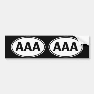 AAA Oval ID Bumper Stickers