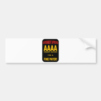 AAAA CREDIT RATING BUMPER STICKER