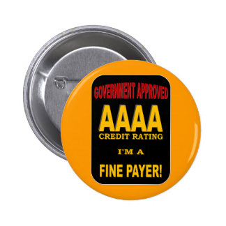 AAAA CREDIT RATING PINBACK BUTTON