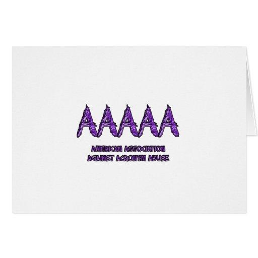 AAAAA GREETING CARD