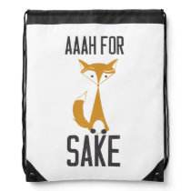Aaaaah, for fox sake! drawstring bag